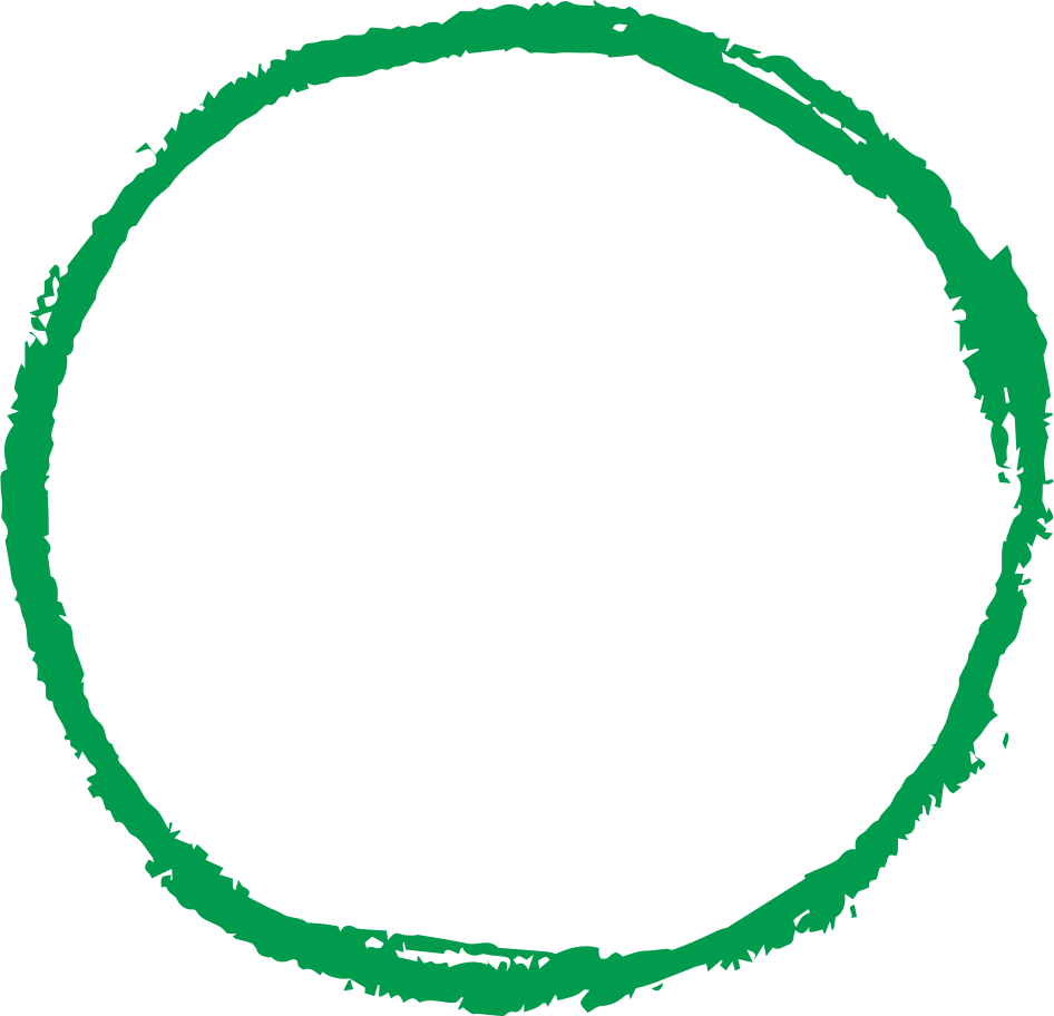 circle hand drawn green Clipart illustration in PNG, SVG