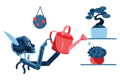 style Robo-gardener images in PNG and SVG | Icons8 Illustrations