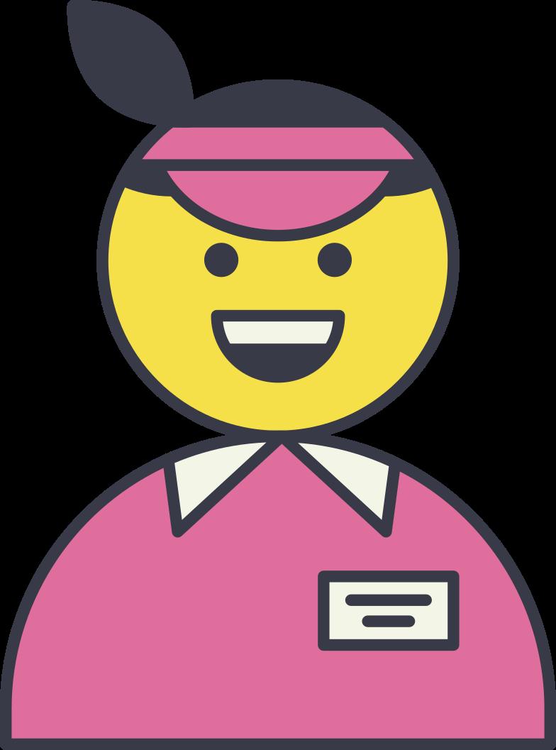 cashier Clipart illustration in PNG, SVG
