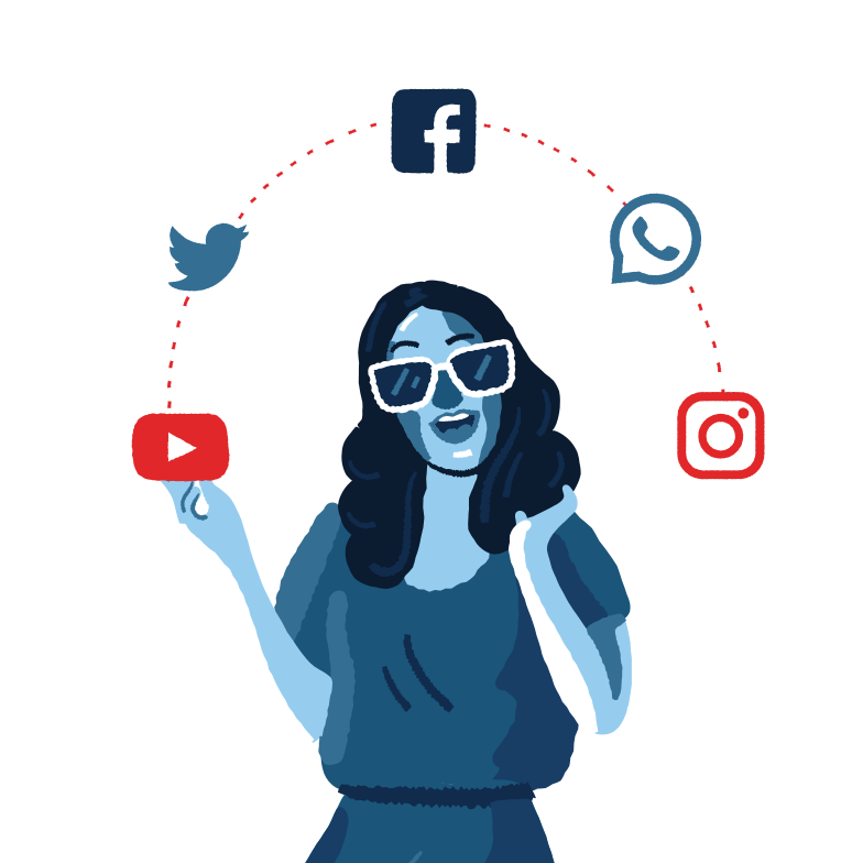 style Social Media Addiction Vector images in PNG and SVG | Icons8 Illustrations