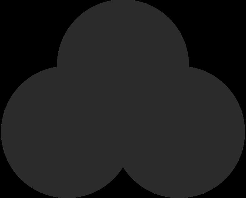 Illustration clipart Trèfle noir aux formats PNG, SVG