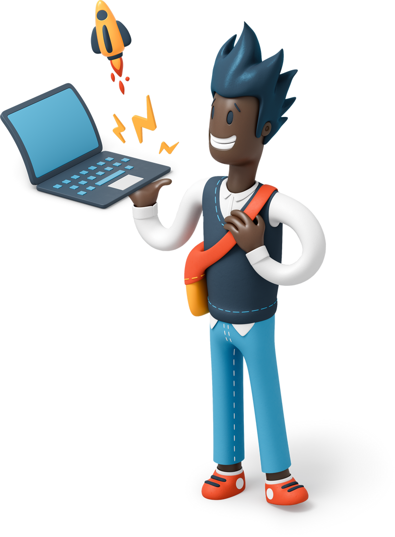 man with laptop Clipart illustration in PNG, SVG
