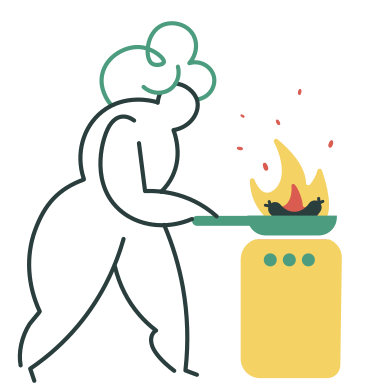 style Burnt dinner images in PNG and SVG | Icons8 Illustrations