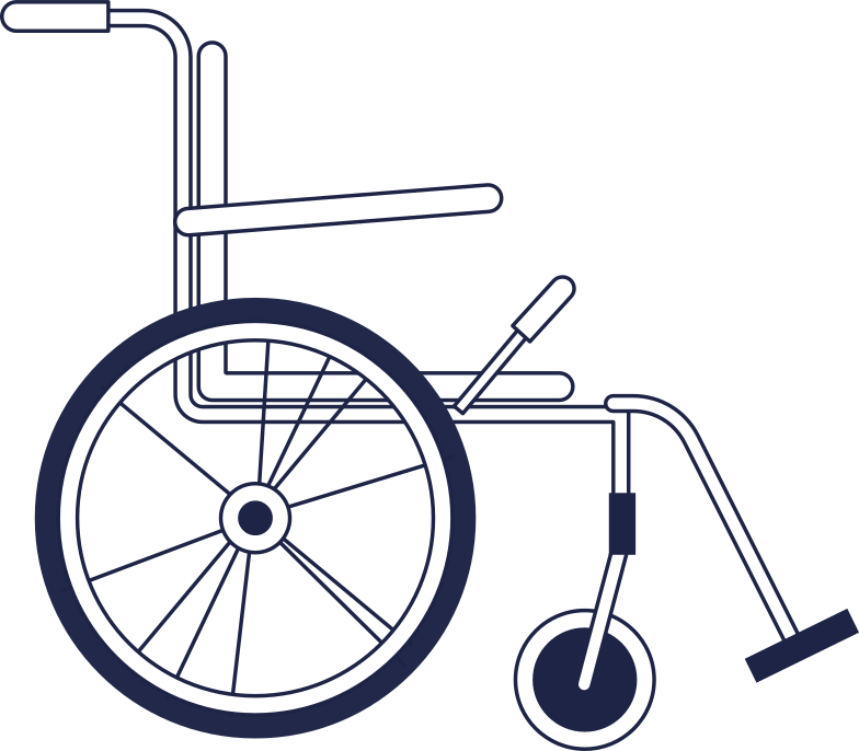 wheelchair Clipart illustration in PNG, SVG
