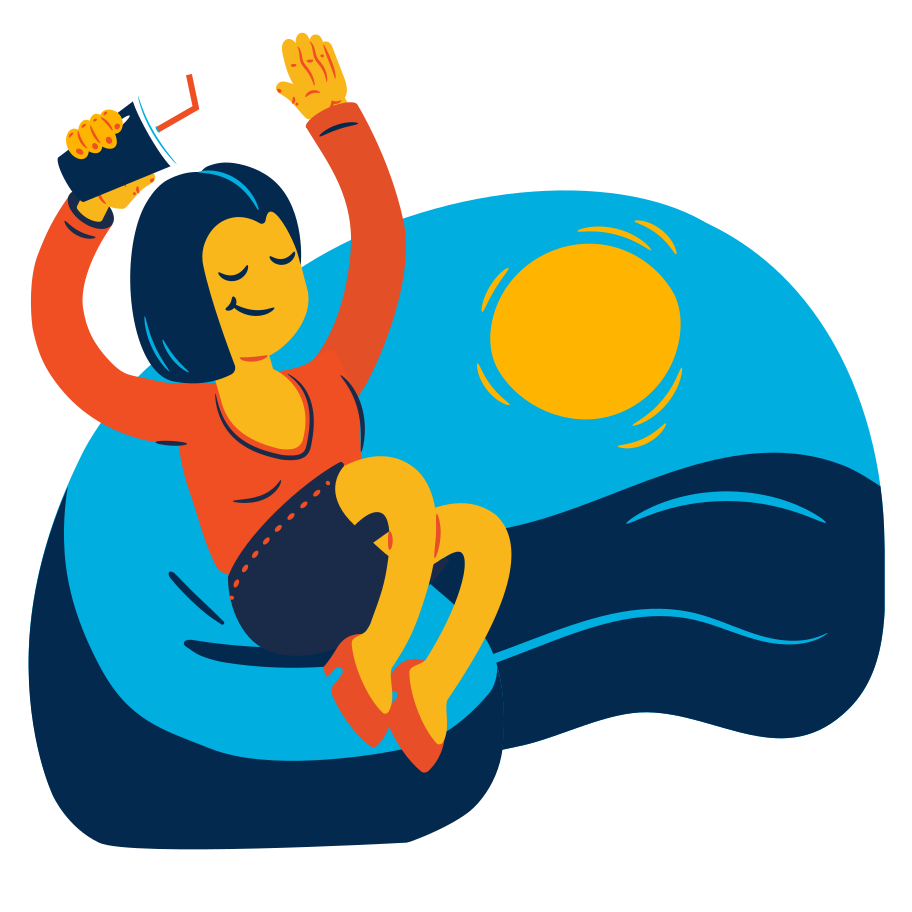 Vacation by the sea Clipart illustration in PNG, SVG