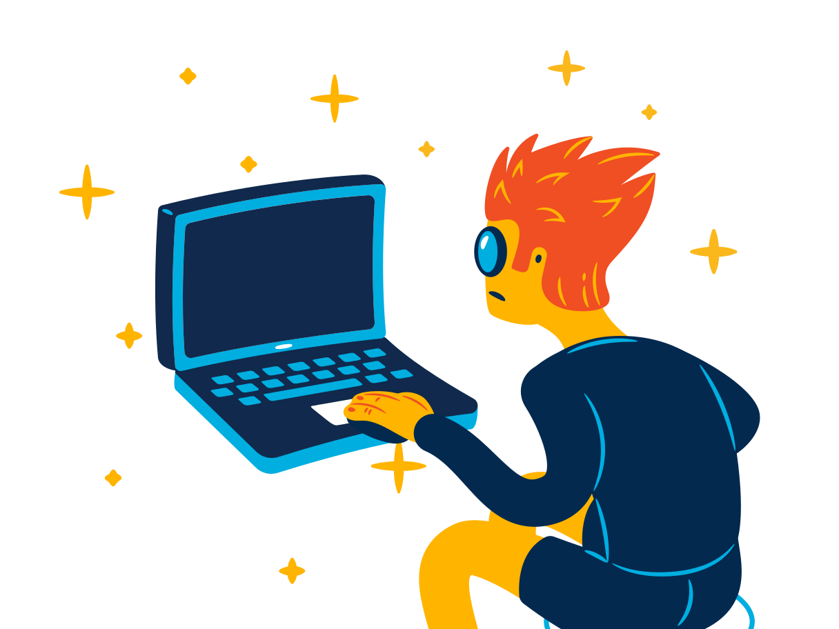 Work on computer Clipart illustration in PNG, SVG