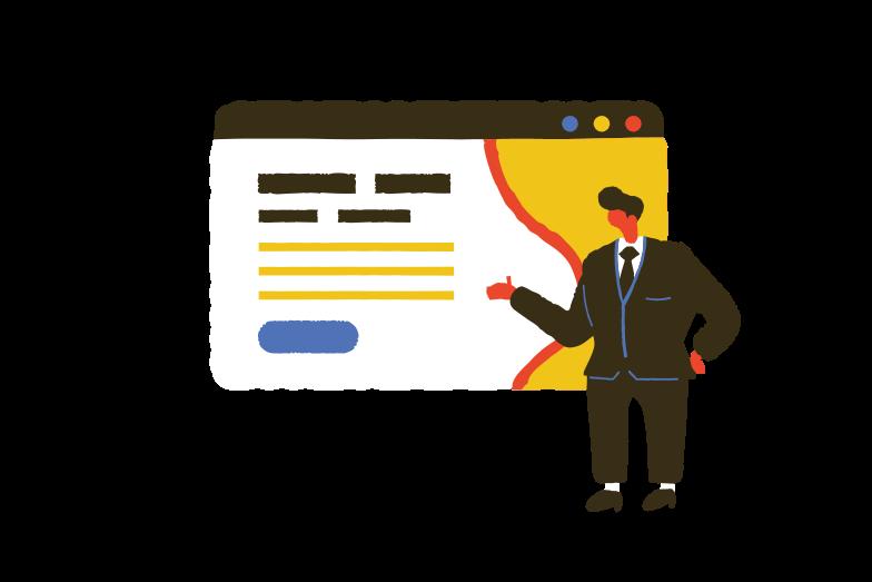 Web page presentation Clipart illustration in PNG, SVG