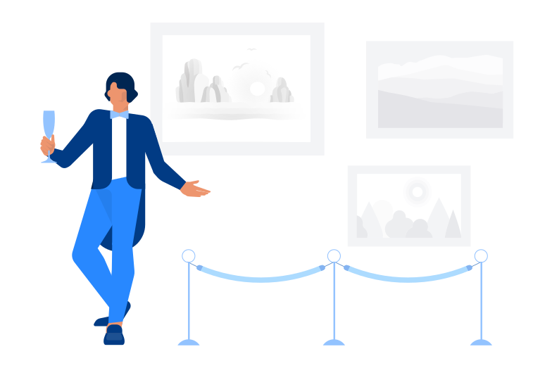 Style  Ouverture de la galerie d'art Images vectorielles en PNG et SVG | Icons8 Illustrations