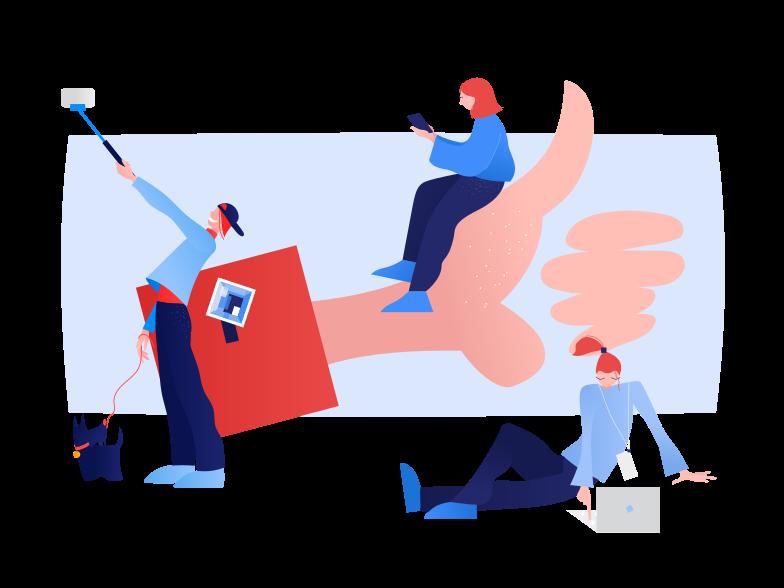 Social networks Clipart illustration in PNG, SVG