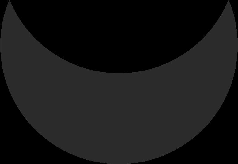 Illustration clipart Croissant noir aux formats PNG, SVG