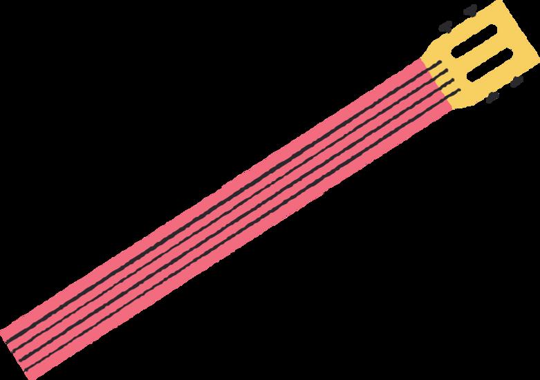 half guitar Clipart illustration in PNG, SVG