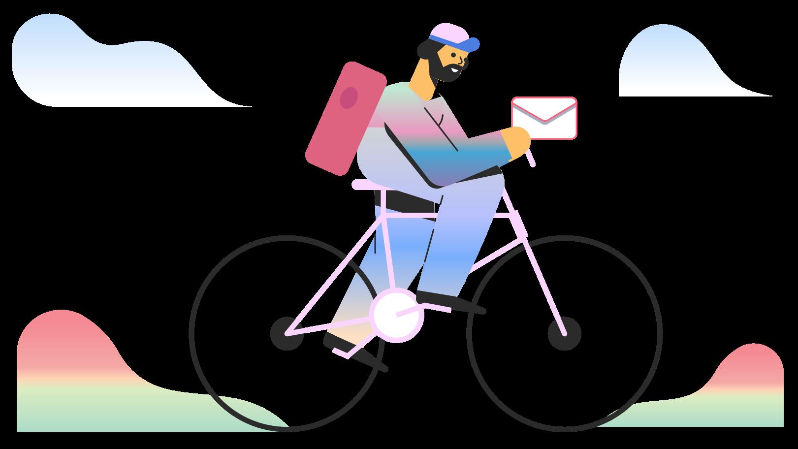 Delivering a message Clipart illustration in PNG, SVG