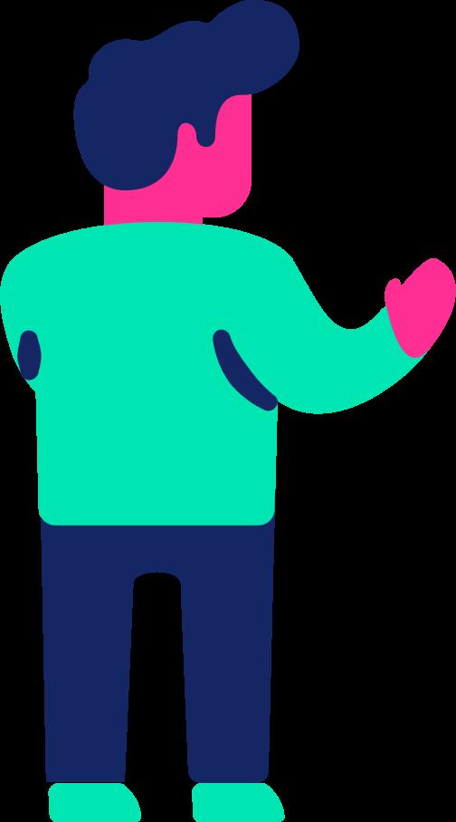 man back Clipart illustration in PNG, SVG