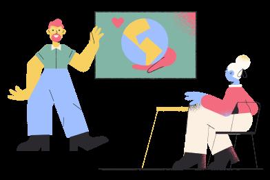 Иллюстрация Учимся любить планету в стиле  в PNG и SVG | Icons8 Иллюстрации