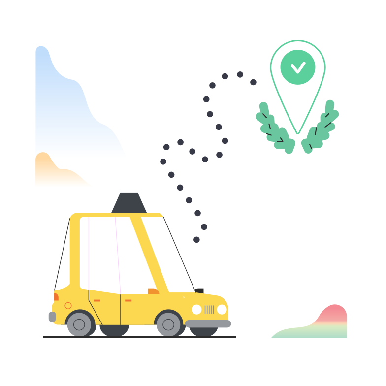 Taxi Clipart illustration in PNG, SVG