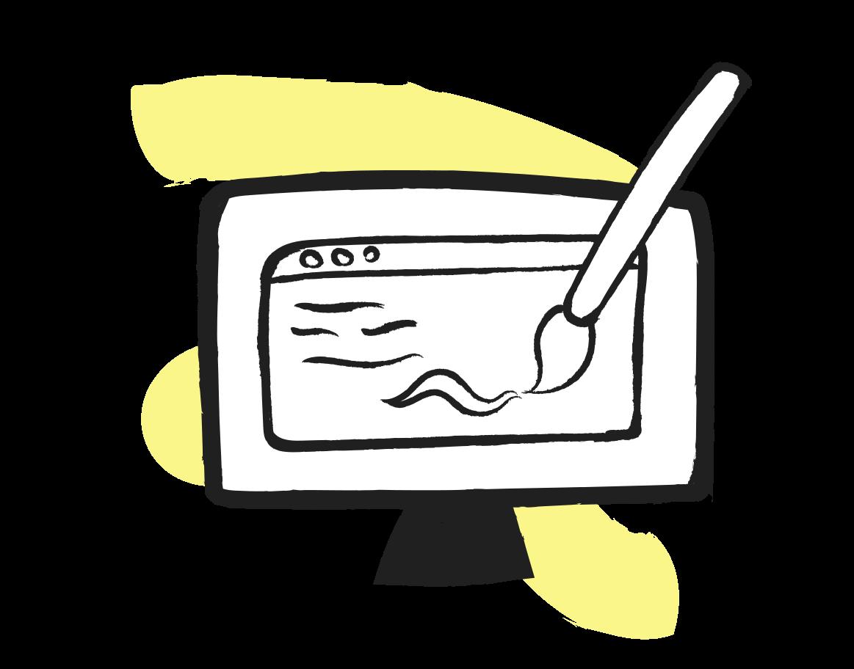 Web design planning Clipart illustration in PNG, SVG