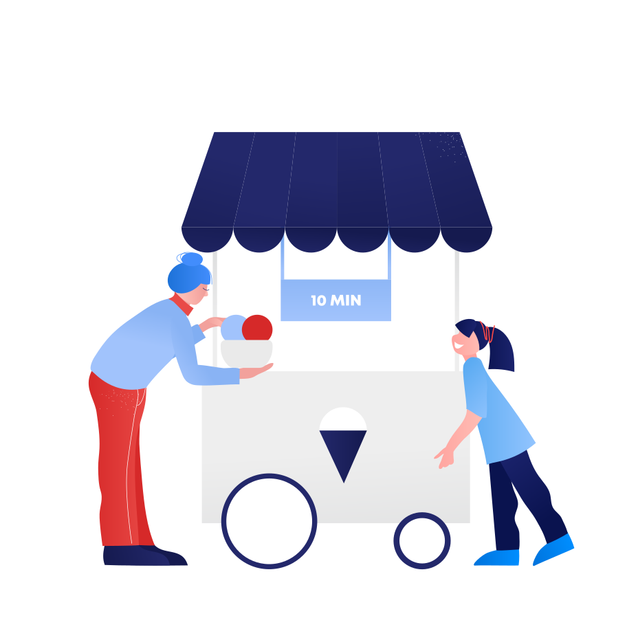 Ice cream seller  Clipart illustration in PNG, SVG