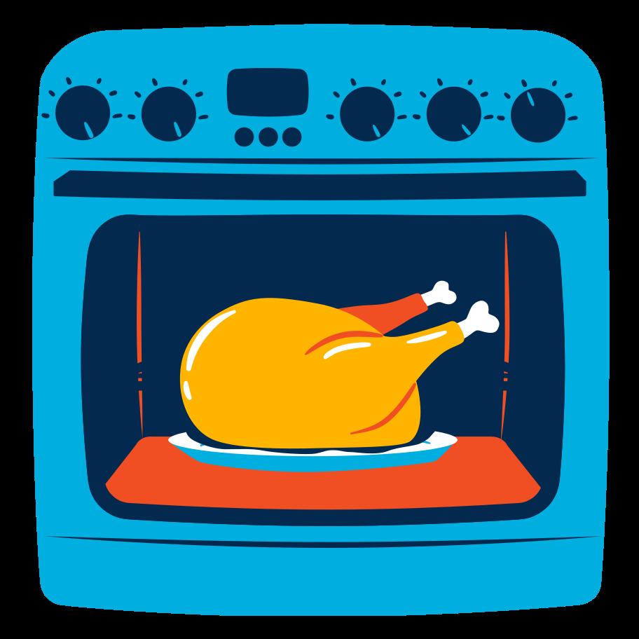 Imágenes vectoriales Pollo al horno en PNG y SVG estilo  | Ilustraciones Icons8