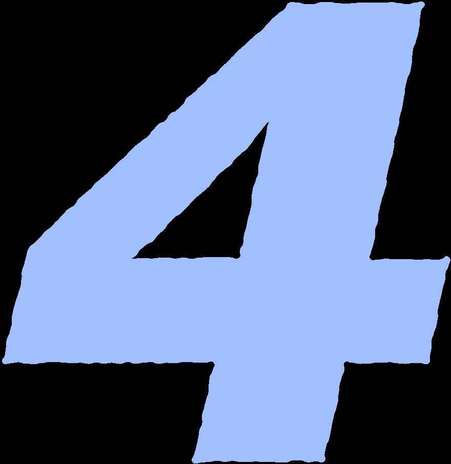 Ilustración de clipart de Cuatro numero en PNG, SVG