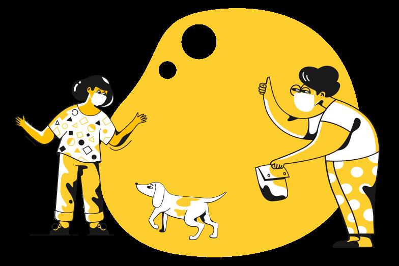 Social distancing Clipart illustration in PNG, SVG