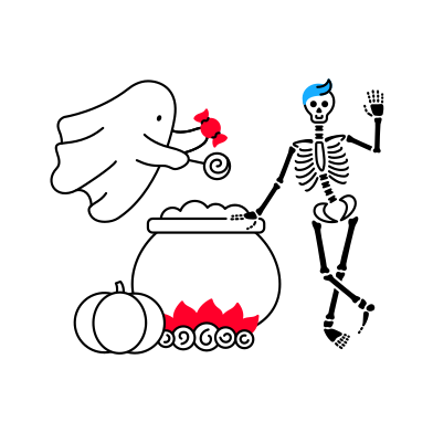 style Hello Halloween images in PNG and SVG | Icons8 Illustrations