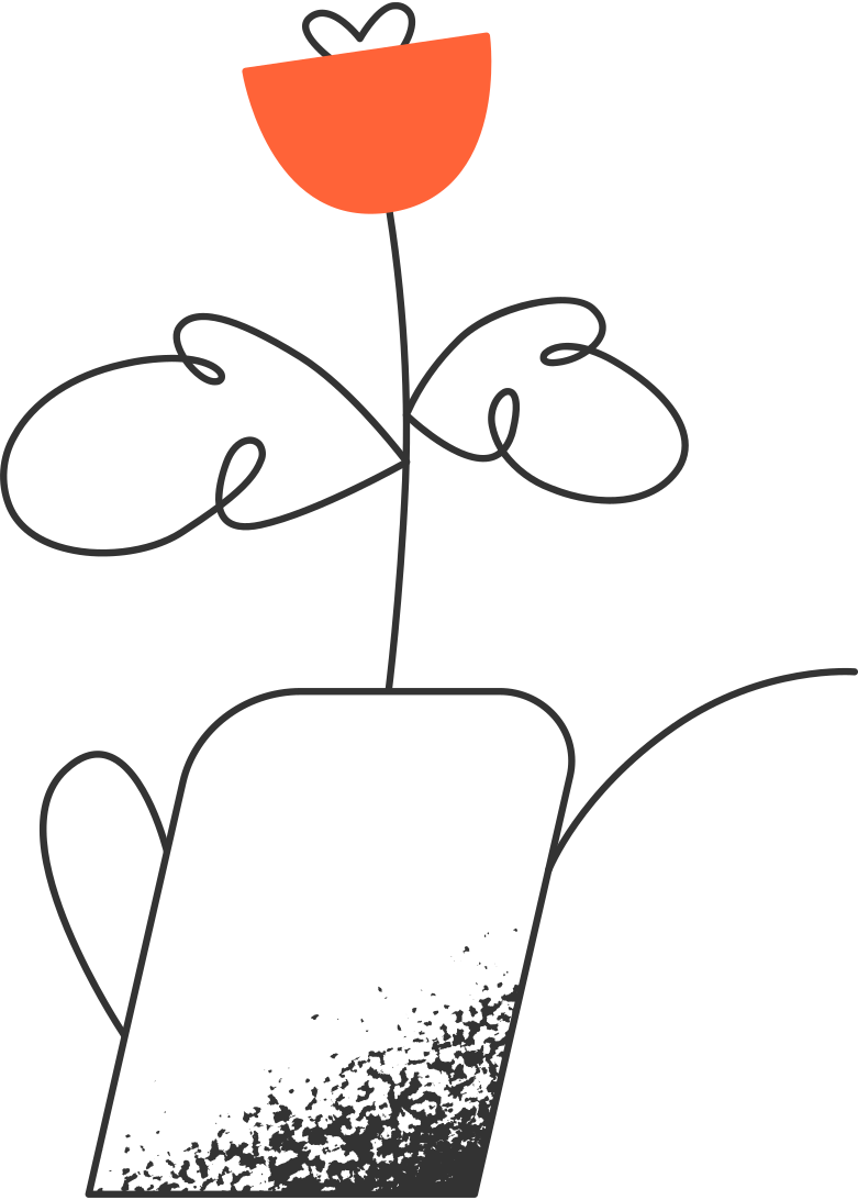 flower in watering can Clipart illustration in PNG, SVG