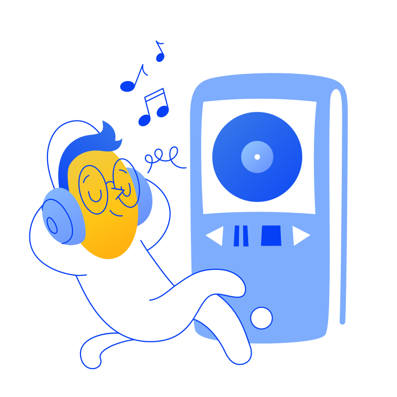 Music player Clipart illustration in PNG, SVG