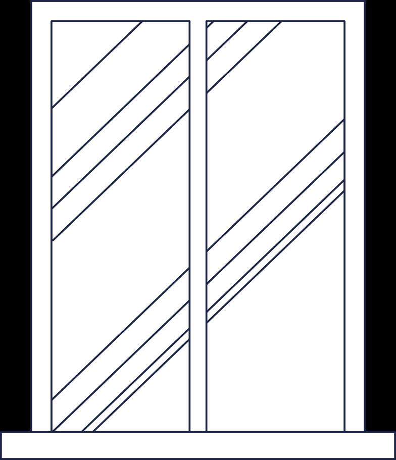window 3 line Clipart illustration in PNG, SVG