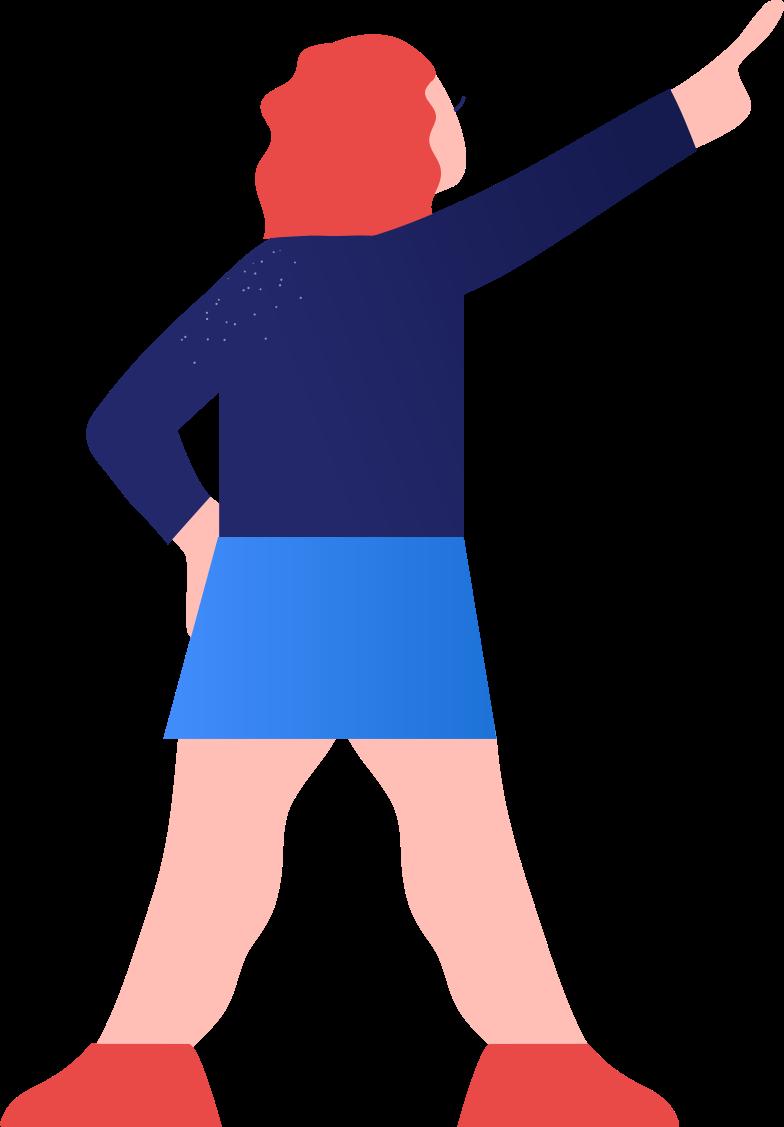 girl showing Clipart illustration in PNG, SVG