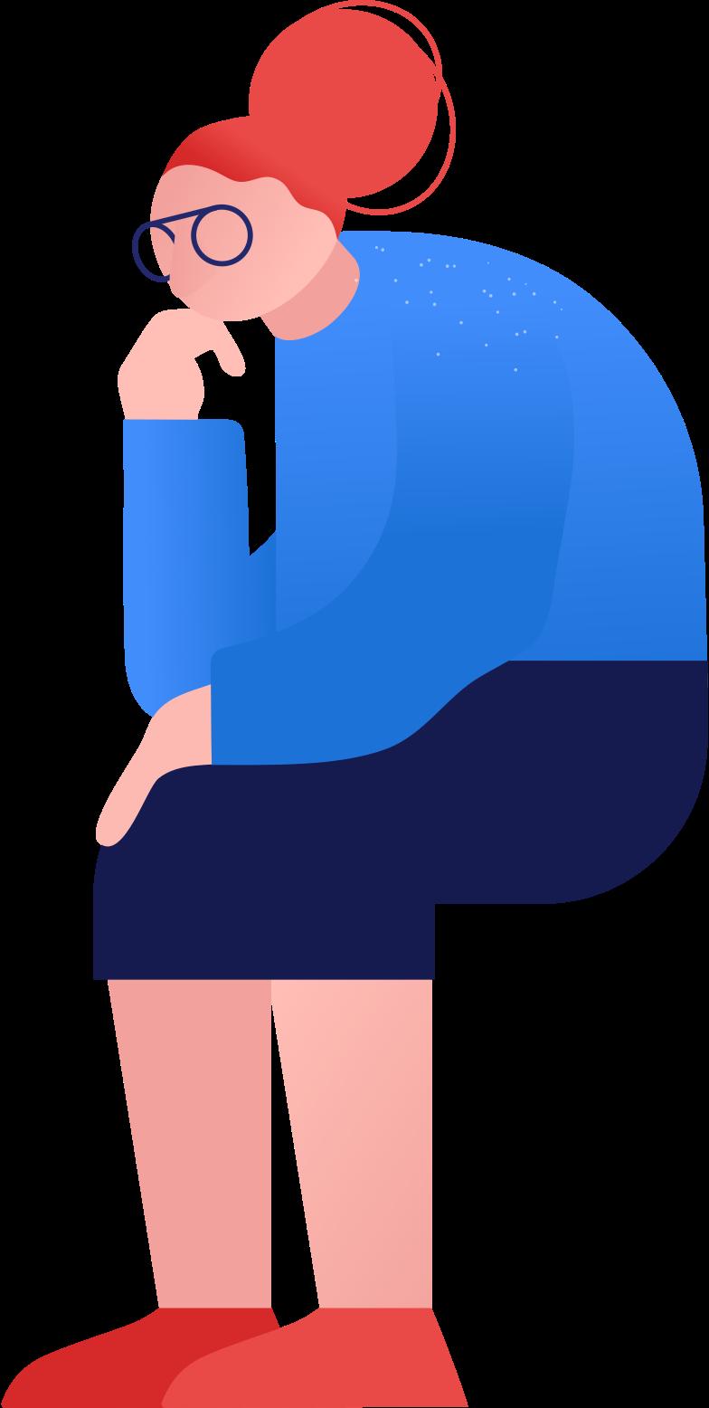 granny sitting Clipart illustration in PNG, SVG