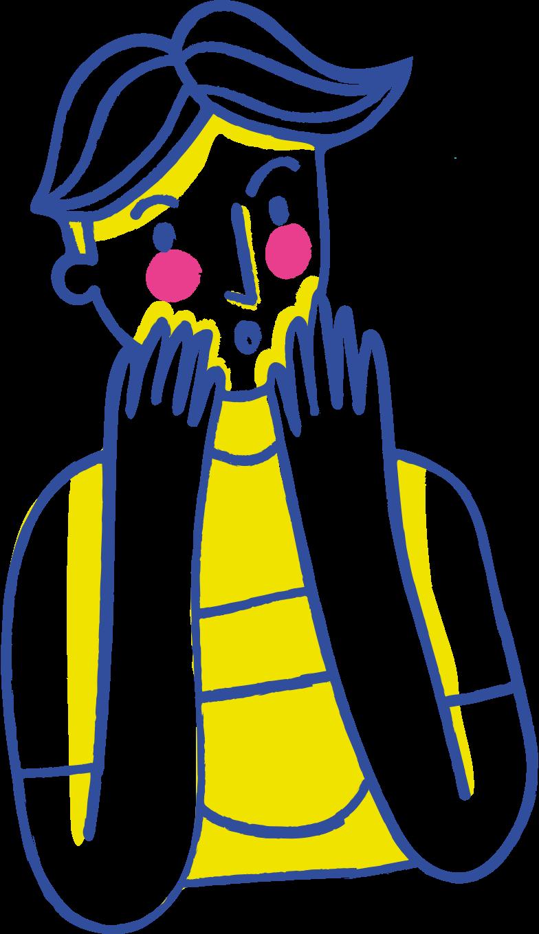 surprised man Clipart illustration in PNG, SVG