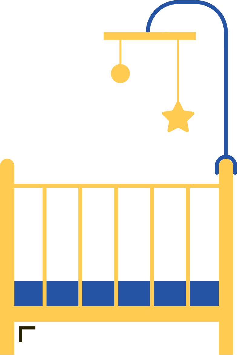 baby cot Clipart illustration in PNG, SVG