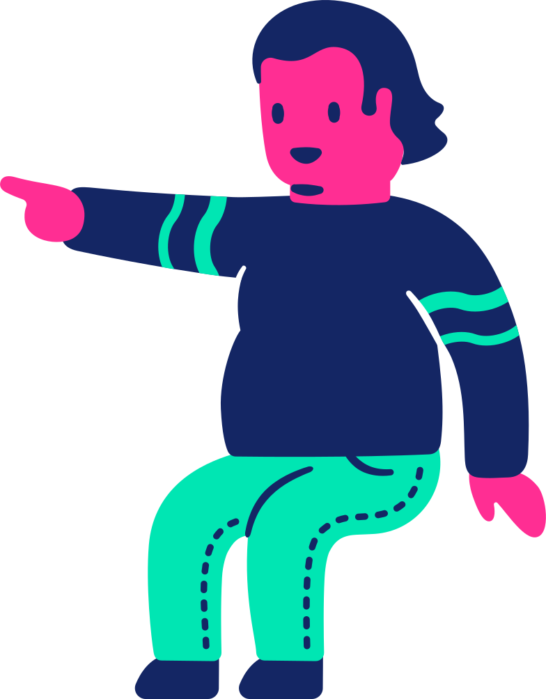 Imágenes vectoriales Hombre gordo sentado señalando en PNG y SVG estilo  | Ilustraciones Icons8