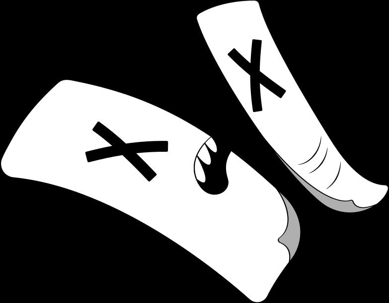 halves of paper Clipart illustration in PNG, SVG