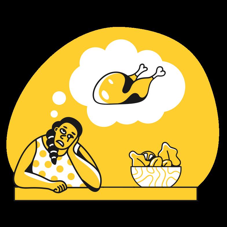 Imágenes vectoriales pensando en pollo en PNG y SVG estilo  | Ilustraciones Icons8