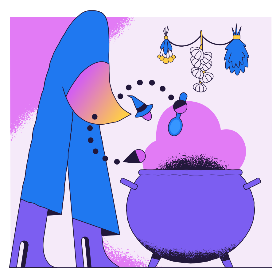 style Witch cooking images in PNG and SVG | Icons8 Illustrations