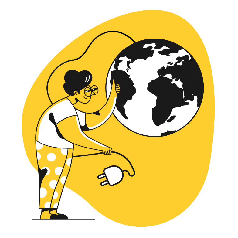Earth hour Clipart illustration in PNG, SVG