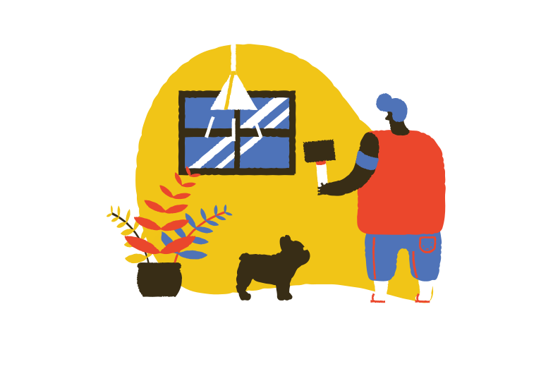 style Handyman fixing window  Vector images in PNG and SVG | Icons8 Illustrations