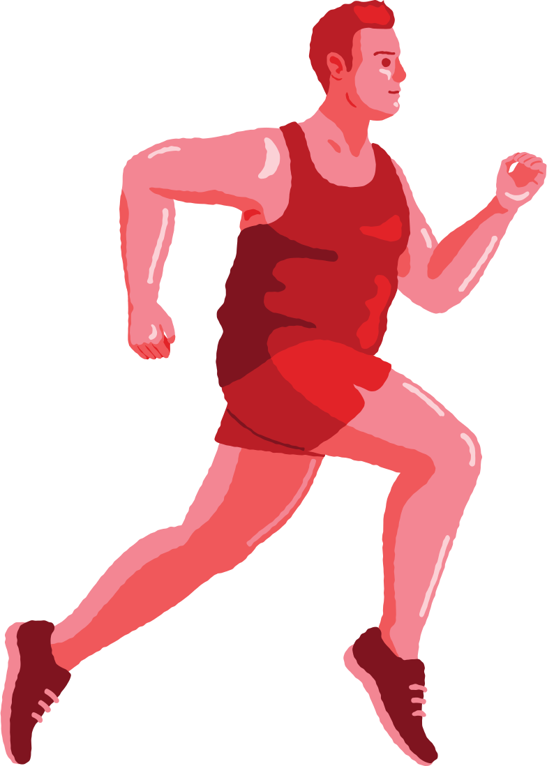 chubby man running Clipart illustration in PNG, SVG