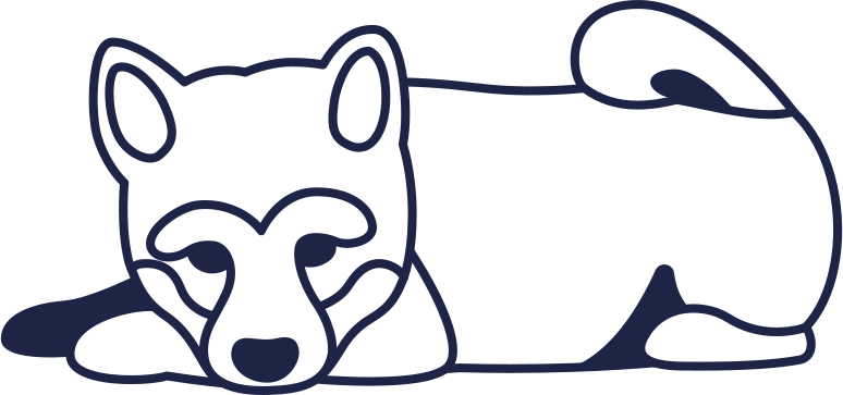 dog 2 line Clipart illustration in PNG, SVG