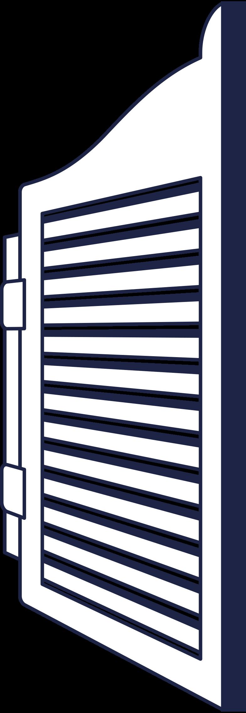 saloon door line Clipart illustration in PNG, SVG