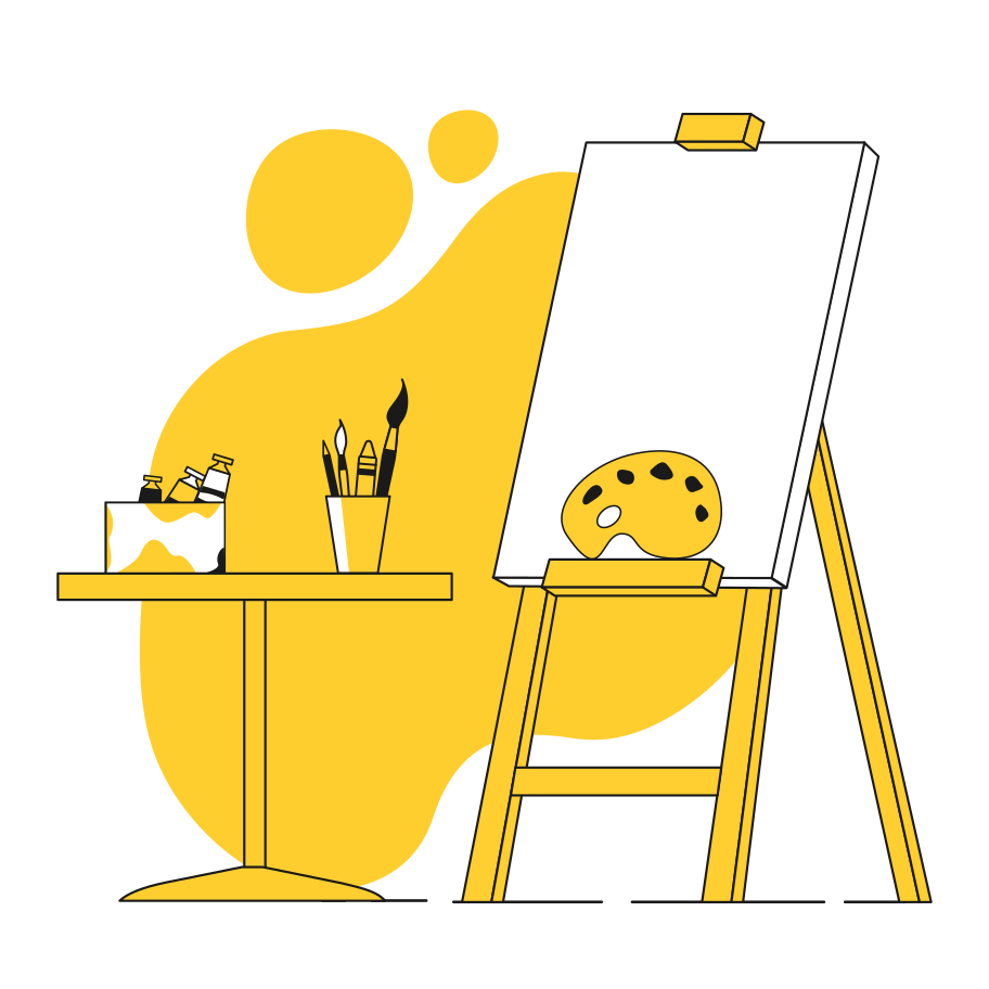 Imágenes vectoriales artículos de arte en PNG y SVG estilo  | Ilustraciones Icons8