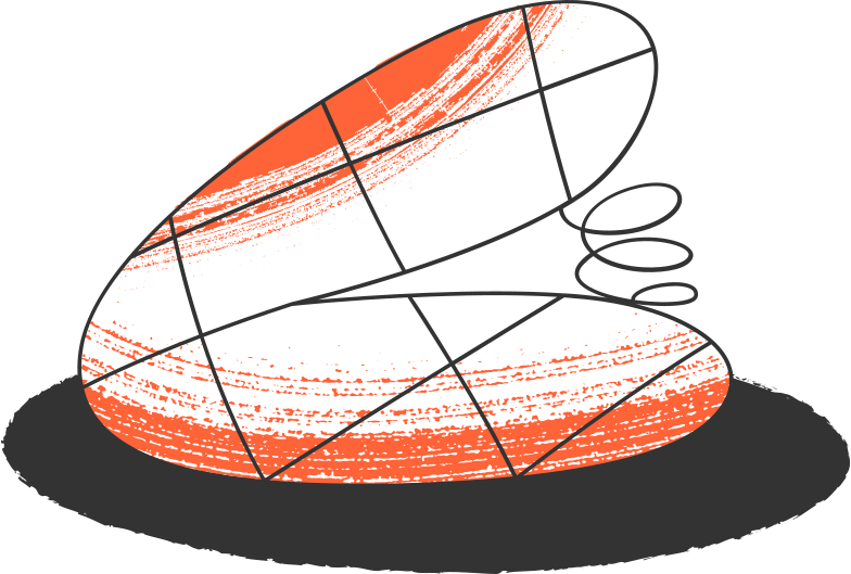 trampoline with sahdow Clipart illustration in PNG, SVG