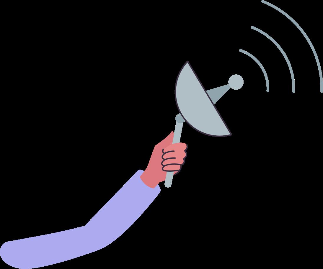 hand-with-scaner Clipart illustration in PNG, SVG