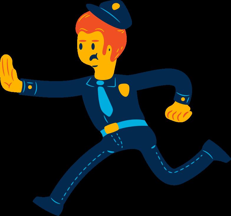 man policeman Clipart illustration in PNG, SVG