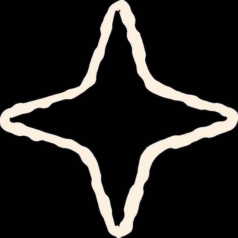 beige star Clipart illustration in PNG, SVG