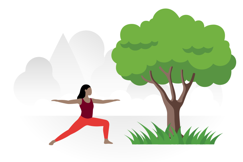 Yoga in the park Clipart illustration in PNG, SVG