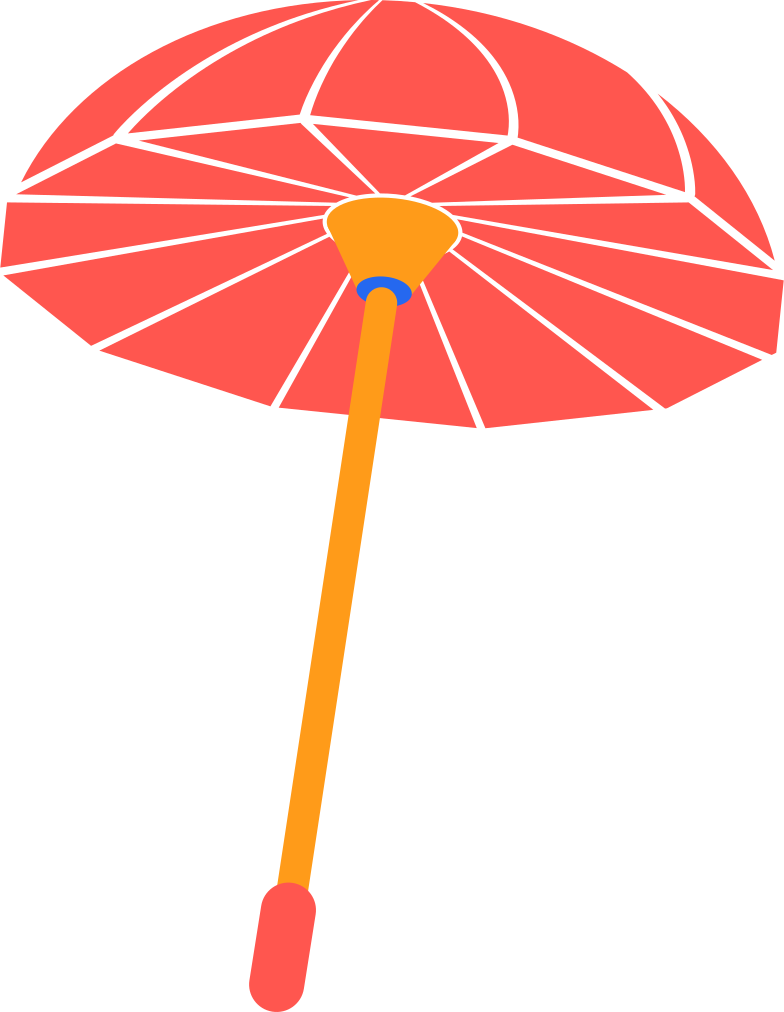 chinese umbrella Clipart illustration in PNG, SVG