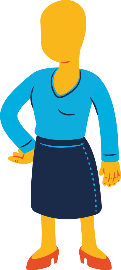 woman standing Clipart illustration in PNG, SVG