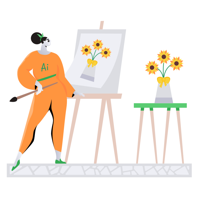 AI artist Clipart illustration in PNG, SVG